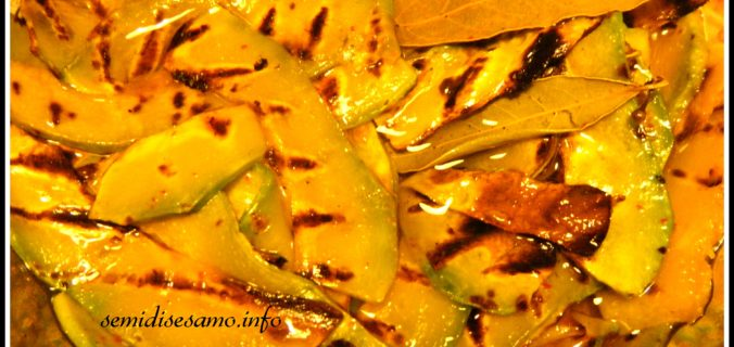 Zucca grigliata e marinata
