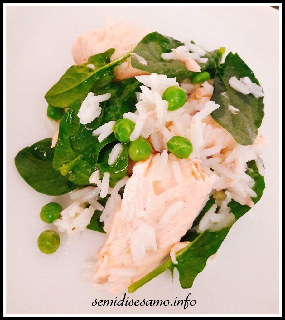 insalata di salmone e riso basmati