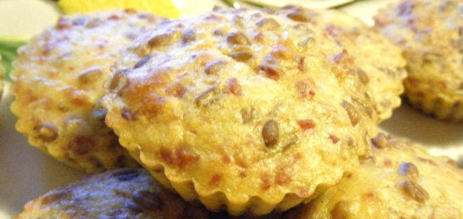 Muffin di farro, cotechino e lenticchie