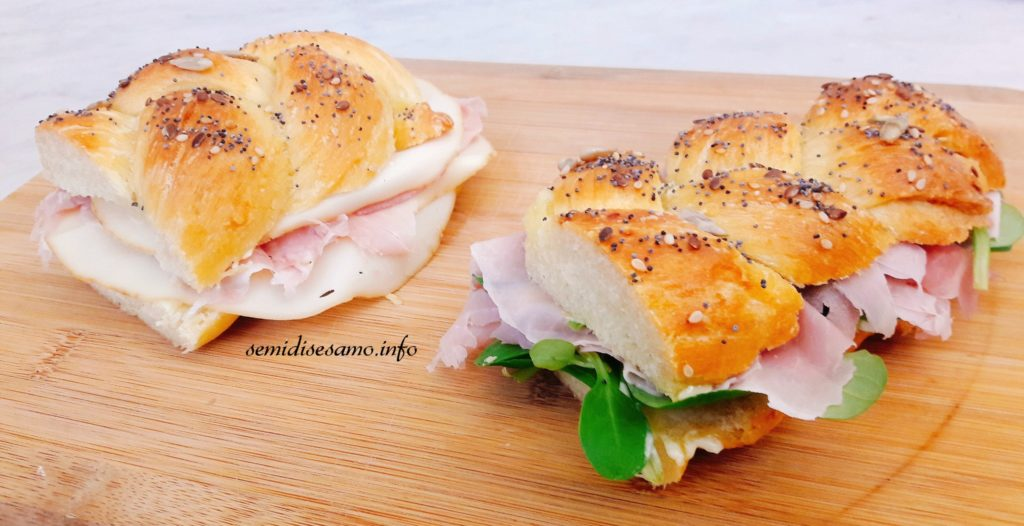 treccia salata di pan brioche